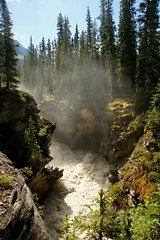 Athabasca River (Stefan Jrgensen) Tags: jaspernationalpark 2013 sony dslra700 a700 canada rockymountains alberta athabasca river falls waterfall athabascariver icefieldsparkway gorge water