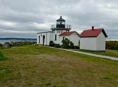 Point No Point Lighthouse (runcolt12) Tags: cloudy iphone autumn ocean hansville pugetsound pacificocean pointnopoint lighthouse washington