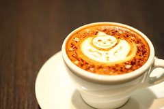 IMG_1607 (keikotakahashi) Tags: cafe coffee snowman snow winter cappuccino latteart latte