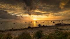 Sunset (JH') Tags: nikon nikond5300 nature d5300 water rocks rock beach heaven landscape summer sky sigma sweden sun sunset 1020 2016 ocean clouds coast sand seaside