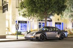 Porsche 959 (Axion23) Tags: dark metallic silver porsche 959 canepa monterey car week 2016