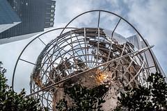 Columbus Circle Globe (Phil Roeder) Tags: newyorkcity nyc manhattan leica leicax2 columbuscircle globe