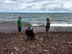 Bryan, Greg + Mark (thechelseagrin) Tags: upperpeninsula michigan sunsetbay keweenawpeninsula nature lakesuperior family