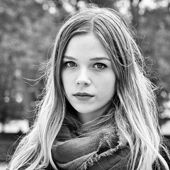 Marion (Cheese -) Tags: blackandwhite bw noiretblanc girl portrait streetportraits stangers inconnues