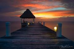 UnBelizeable (Aron Cooperman) Tags: belize centralamerica sunrise latinamerica dock pier ambergriscaye island december2014 landscape seascape ocean atlanticocean nikond800 nikon sun