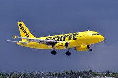 N502NK  A319-132  Spirit Airlines (n707pm) Tags: n502nk a319 airbus 319 airline airport aircraft airplane fll kfll spiritairlines florida usa 03092016 cn2433 fortlauderdale fortlauderdalehollywood