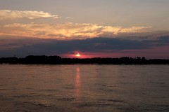 Mississippi sunset (pburka) Tags: sunset clouds river mississippi memphis tennessee tn