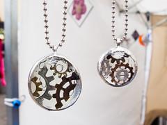 Steam punk inspired pendants by Carol Nelson (marketkim) Tags: newproducts eugene oregon saturdaymarket festival artfair eugenesaturdaymarket artfestival
