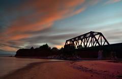 Chemin de fer (pascal_roussy) Tags: chemindefer plage sable nuage paysage pabos nikon d3100 canada qubec