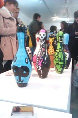 5th Base Gallery (kev munday) Tags: dog skeleton outsiderart artexhibition artlondon brightart kevmunday 5thbase paintedbowlingpins