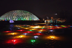 Jewel Box of Lights at the Bloedel Conservatory (どこでもいっしょ) Tags: christmas canada colors vancouver lights holidays colorful bc nightshot xmaslights queenelizabethpark bloedelconservatory m43 mirrorless microfourthirds lumix20mmf17 jewelboxoflights olympusomdem5 tgam:photodesk=christmas2012