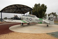 SNJ-5 Texan, U.S. Marine Corps (90866), California, Marine Corps Air Station Miramar, Flying Leatherneck Aviation Museum (EC Leatherberry) Tags: california museum display aircraft military sandiegocounty northamericanaviation marinecorpsairstationmiramar snjtexan flyingleatherneckaviationmuseum traineraircraft usmarinescorps