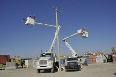 Helmand Bucket Truck training (USACE Afghanistan Engineer District-South) Tags: afghanistan training construction power infrastructure electricity trucks volleyball hopkins engineers nabi dabs buckettruck usace usarmycorpsofengineers helmand lashkargah afghannationalsecurityforces capacitydevelopment karlamarshall