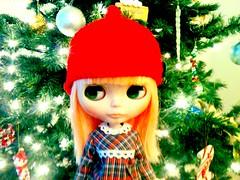 A Christmas elf.