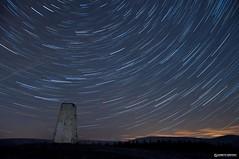 Beacon Fell Star Trails (Gareth Brooks) Tags: longexposure stars long exposure earth lancashire rotation stackedimages startrails beaconfell trigpoint nikond90 garethbrooks