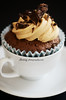 Chocolate cupcake, frosting with coffee and dark chocolate flakes (dhmig) Tags: cup coffee dessert sweet chocolate coffeecup cupcake temptation indulgence frosting gluttony chocolateflakes