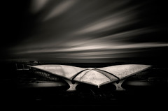 TWA Terminal at New Yorks JFK by Eero Saarinen (sandracanning) Tags: longexposure building architecture airport aviation historic jfk twa eerosaarinen historicpreservation johnfkennedyairport nationallandmark finnishamerican twaflightcenter
