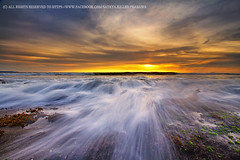 Blanket of Water (Satrya_Budhi) Tags: sunset bali seascape beach sunrise canon indonesia ship lima 7d waterscape pererenan