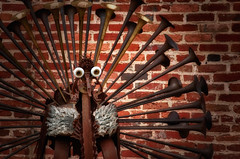 042_HDR NIK VIN GLOW (Timberography) Tags: brick bird rust baltimore hdr iorn