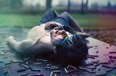 14/52 | The Murder Of Innocence. (| Jared Tyler) Tags: portrait colors rain self canon rainbow flickr mood photographer sad connecticut teen shooting crayons bullets crayola roygbiv phtotography artistsontumblr jaredinthebox jaredtylerphotography