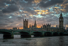 Sunset (Stephen Champness) Tags: city houses windows sunset sky sun building london water thames clouds river nikon parliament adobe 1855 hdr lightroom nikond3200 photomatix adobelightroom d3200