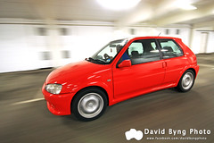 Pug 106 (byngphoto) Tags: red colour car canon eos shot angle vibrant wide pug sigma 106 rig gti ef peugeot rolling 50d