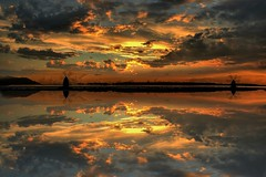 a sunset dream (rinogas) Tags: sunset sea italy clouds sicily sicilia trapani marsala photomix rinogas besteverdigitalphotography