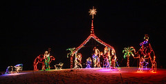 Electric Nativity (LostMyHeadache: Absolutely Free *) Tags: christmas winter light shadow sky snow night canon joseph lights star sheep mary jesus noel christmaslights angels happyholidays christmaseve merrychristmas camels nativity starofdavid magi wisemen shepherds davidsmith calgaryalbertacanada eos60d