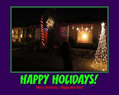 Merry Christmas! (zoniedude1) Tags: arizona phoenix holidaze christmaslights xmaslights myplace frontyard lightshow hohoho litup zoniedude1 canonpowershotg11 christmas2012 thezonieoasis
