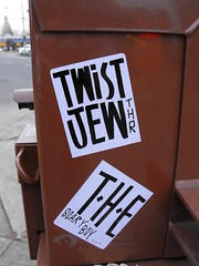 THE/ TWIST JEW (Anything for thee Shot) Tags: boy cute portland hearts graffiti scary stickers twist jew slap emotional xoxo sadeyes the thr scaryboy ilikethem twistjew