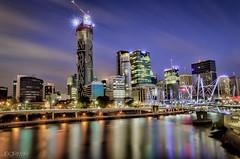 Brisbane CBD (James Barker 94) Tags: city sunset buildings reflections river lights cityscape australia brisbane qld queensland cbd aus