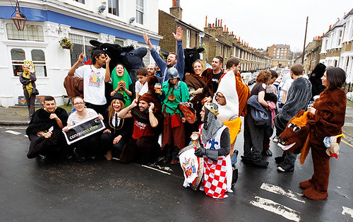 Greenwich pantomime horse race