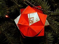 Knotology, Heinz Strobl (Aneta_a) Tags: christmas origami strobl modularorigami kusudama paperstrips knotology heinzstrobl icosahedralsymmetry