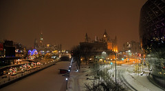 Still Night (annabellemartensen) Tags: winter sky snow ontario canada cold night canon lights downtown ottawa capital north 7d dslr parliamenthill chateaulaurier
