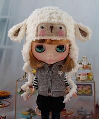 Sheep Hat Lamb Helmet for Blythe Dolls