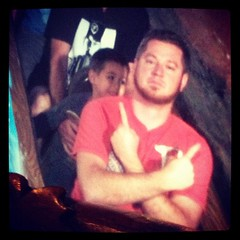 Always fun when u know where... (ryanthrower) Tags: disneyland sfgiants splashmountain brianwilson thebeard uploaded:by=flickstagram instagram:photo=47900265870485