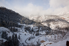 """Views along the Snow-Covered """"Million Dollar Highway"""" (3) (squeaks2569) Tags: road winter usa mountain snow mountains ice highway colorado december day unitedstates co 2012 550 milliondollarhighway us550 route550 usroute550 pwwinter"""