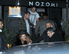 Lindsay Lohan seen leaving Nozomi Restaurant with boyfriend, Josh Chunn and her minder in London