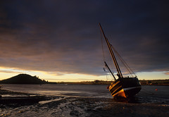 Sunrise at Alnmouth [Explored] (images through a lens) Tags: sea water sunrise boat yacht estuary northumberland northumbria alnmouth northeast