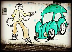 lavao (silwittmann) Tags: auto muro green sc colors wall brasil painting fun mural carro blumenau pintura lavao