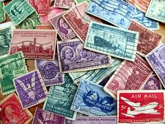 sending a letter (frankieleon) Tags: color vintage interestingness interesting bestof mail stamps stamp cc creativecommons letter delivery usps popular postage deliver airmail uspostage frankieleon
