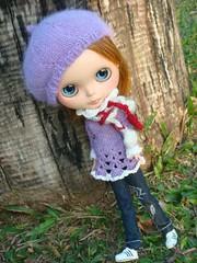 knit beret for blythe