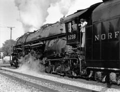 NORFOLK and WESTERN 1218 (ROPERUNNER) Tags: buffalo eire norfolkandsouthern articulatedlocomotive norfolkandsouthern1218 ohiostatelimited ashabulasteam americanlargesteamlocomotive
