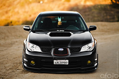 Andy Kuo (Handsome and Philthy) Tags: black car wheel canon drive all f14 snail 85mm turbo subaru 5d 18 wrx subi modded slammed stance advan stanced