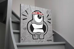 PaperizedCanvas - Go To Korea #2 - 04 (Jepeinsdesaliens) Tags: art lines illustration paper graffiti design sketch newspaper noir drawing korea dessin characters posca poscapens poscaart poscadesign