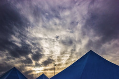. (two.birds.one.stone) Tags: blue sunset sky abstract clouds oregon evening triangle pyramid twobirdsonestone