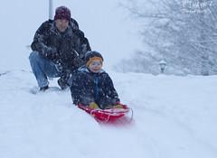 David down the hill (hoohaaphotos) Tags: winter snow cold delhi sledding sleds winterfun winterstorm sledriding delawarecounty delawarecountyny delhiny
