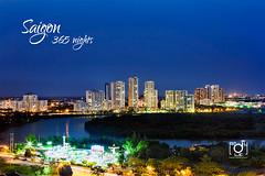 Phu My Hung today (Andy Le | +84908231181) Tags: city houses urban lake skyline night canon buildings afternoon dusk vietnam chi ho minh saigon hung phu semicircular my