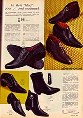 Mod Shoes 1 - Eaton's Catalog 1966 (Patrick from Parka Avenue) Tags: mod shoes 1966 carnabystreet mods 60sfashion chelseaboots parkaavenue