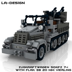 LEGO Custom WW2 SdKfz 7-1 Flak 38 1 (LA-Design2012) Tags: 1 tank lego wwii 7 ww2 vehicle instructions pdf custom xml armored flak 38 moc sdkfz bauanleitung ladesign flakvierling
